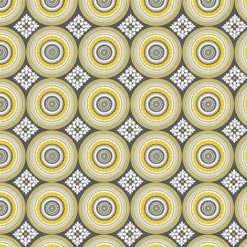 Riley Blake - Parisian Medallion (Yellow) Fabric